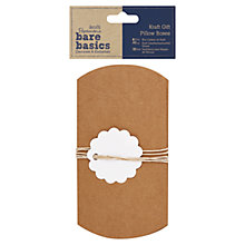 Buy Docrafts Papermania Bare Basics Kraft Gift Pillow Boxes, Pack of 3 Online at johnlewis.com