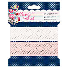 Buy Docrafts Papermania Simply Floral Crochet Trims, Pack of 2 Online at johnlewis.com