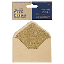 Buy Docrafts Papermania Bare Basics Kraft Glitter Envelopes, Pack of 4 Online at johnlewis.com