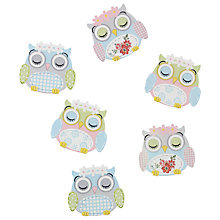 Buy John Lewis Sleeping Owls, Pack of 6, Multi Online at johnlewis.com