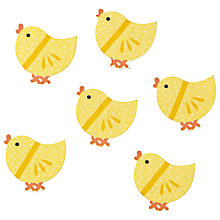 Buy John Lewis Yellow Chicks Paper Toppers, Pack of 6, Multi Online at johnlewis.com