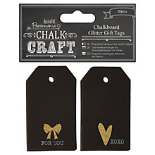 Buy Docrafts Papermania Chalk Craft Chalkboard Glitter Gift Tags, Pack of 20 Online at johnlewis.com