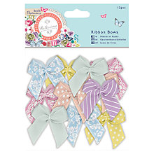Buy Docrafts Papermania Bellissima Large Ribbon Bows, Pack of 12, Multi Online at johnlewis.com