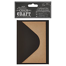 Buy Docrafts Papermania Chalk Craft Mini Cards and Envelopes, Pack of 6 Online at johnlewis.com