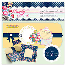Buy Docrafts Papermania Simply Floral Decoupage Card Making Kit Online at johnlewis.com