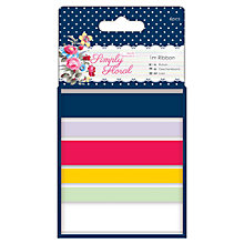 Buy Docrafts Papermania Simply Floral Ribbon, Pack of 6 Online at johnlewis.com