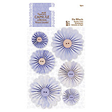 Buy Docrafts Papermania French Lavender Pin Wheels, Pack of 6 Online at johnlewis.com