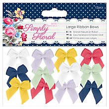 Buy Docrafts Papermania Large Ribbon Bows, Pack of 12, Multi Online at johnlewis.com