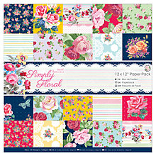 "Buy Docrafts Papermania Simply Floral Paper Pack, 12 x 12"" Online at johnlewis.com"