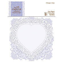 Buy Docrafts Capsule Collection French Lavender Lace Paper, Pack of 12 Online at johnlewis.com