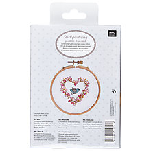 Buy Rico Flower Heart & Bird Embroidery Kit Online at johnlewis.com