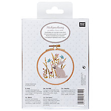 Buy Rico Rabbit & Flowers Embroidery Kit Online at johnlewis.com