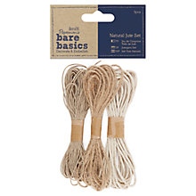 Buy Docrafts Papermania Bare Basics Natural Jute Set, Pack of 3 Online at johnlewis.com