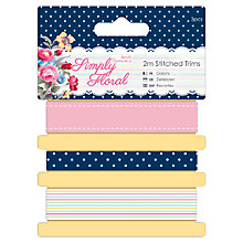 Buy Docrafts Simply Floral Stitched Trims, Pack of 3 Online at johnlewis.com