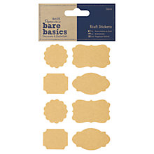Buy Docrafts Papermania Bare Basics Craft Stickers, Pack of 32 Online at johnlewis.com
