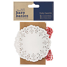Buy Docrafts Papermania Bare Basics Doily Card Kit, Pack of 6 Online at johnlewis.com