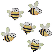 Buy John Lewis Bees Paper Toppers, Pack of 6, Multi Online at johnlewis.com