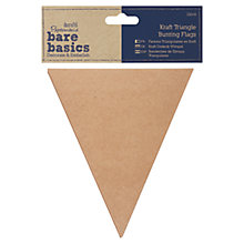 Buy Docrafts Papermania Bare Basics Kraft Triangle Bunting, Pack of 12 Online at johnlewis.com