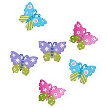 Buy John Lewis Butterflies, Pack of 6, Multi Online at johnlewis.com