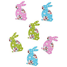 Buy John Lewis Floral Rabbit Topper, Pack of 6, Multi Online at johnlewis.com