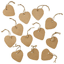 Buy John Lewis Scalloped Heart Tags, Pack of 12 Online at johnlewis.com