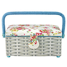 Buy Cath Kidston Cranham Sewing Basket, White Online at johnlewis.com