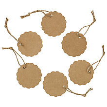 Buy John Lewis Scalloped Circle Tags, Pack of 12 Online at johnlewis.com