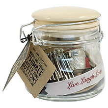 Buy East of India Little Notions Jar, Brown Online at johnlewis.com