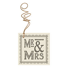 Buy East of India 'Mr And Mrs' Tag, Grey Online at johnlewis.com