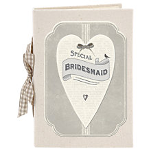 Buy East of India Bridesmaid Heart Album, Grey Online at johnlewis.com