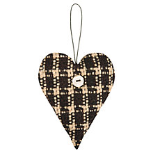 Buy East of India Tweed Padded Heart, Black/White Online at johnlewis.com