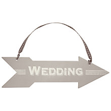 Buy East of India Arrow Wedding Sign Online at johnlewis.com