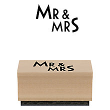 Buy East of India Mr & Mrs Rubber Stamp Online at johnlewis.com