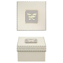 Buy East of India Butterfly Wedding Gift Box, Silver Online at johnlewis.com
