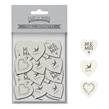 Buy East of India 'Mr & Mrs' Table Confetti, Cream Online at johnlewis.com