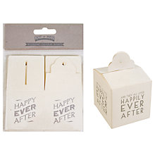 Buy East of India Square Favour Boxes, Set of 6, Cream Online at johnlewis.com