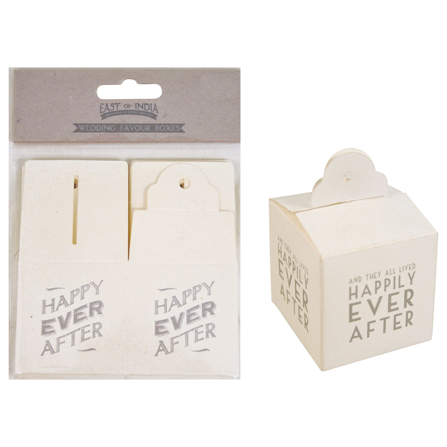 John Lewis Wedding Gift Box : Buy East of India Square Favour Boxes, Set of 6, Cream Online at ...