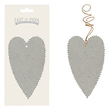 Buy East of India Heart Tag Pack, Grey Online at johnlewis.com