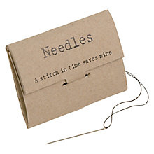 Buy East of India Pack Of Needles Online at johnlewis.com