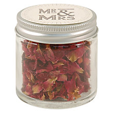 Buy East of India 'Mr & Mrs' Rose Petals Jar, Pink Online at johnlewis.com