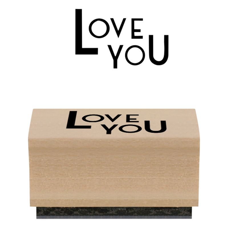 East of India East of India 'Love You' Stamp, Multi