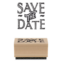 Buy East of India Save The Date Rubber Stamp Online at johnlewis.com