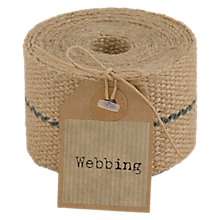 Buy East of India Hessian Webbing, 3m, Brown Online at johnlewis.com