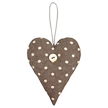 Buy East of India Spotty Padded Heart, Grey Online at johnlewis.com