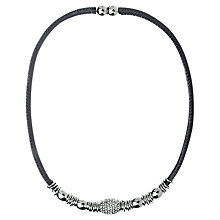 Buy Adele Marie Silver Diamante Necklace, Silver Online at johnlewis.com