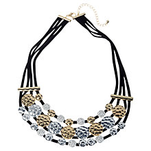 Buy Adele Marie Disc Necklace, Black/Gold/Silver Online at johnlewis.com