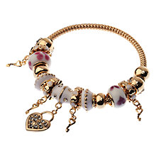 Buy Adele Marie Multi Charm Gold Mesh Bracelet Online at johnlewis.com