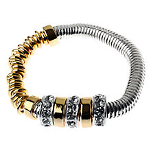 Buy Adele Marie Silver Gold Bead Bracelet, Multi Online at johnlewis.com