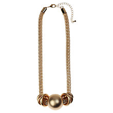 Buy Adele Marie Matt Bead Mesh Necklace, Gold Online at johnlewis.com