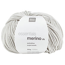 Buy Rico Essentials Soft Merino DK Yarn, 50g, Silver Grey Online at johnlewis.com